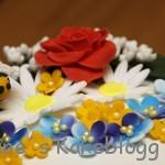Sommerkake blomster